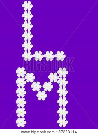 flowers letter l,m