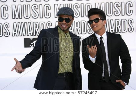 Bruno Mars at the 2010 MTV Video Music Awards, Nokia Theatre L.A. LIVE, Los Angeles, CA. 08-12-10