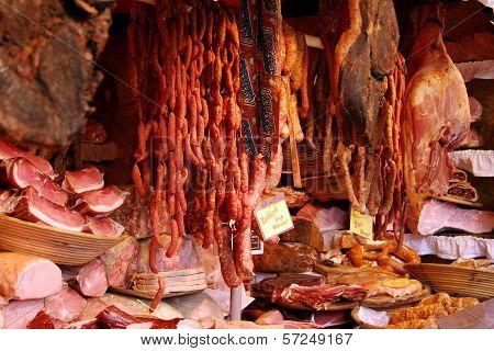 Meat in butchery