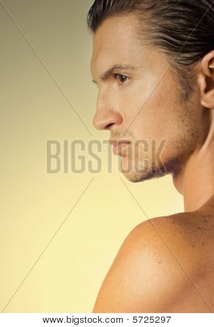 Close-up Handsome Man Face