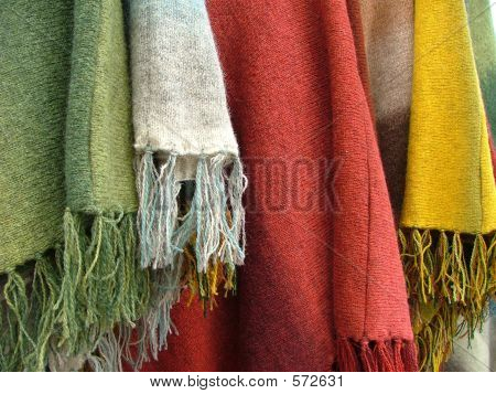 Colorful Scarfs And Plaids