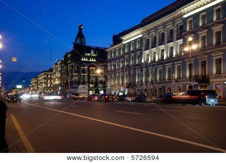Nevskiy Prospekt At Night