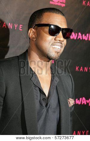Kanye West at the Los Angeles Premiere of Kanye West's film debut