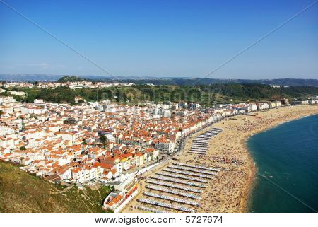 Landscape of Nazare, Portugal.