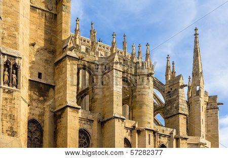 Roof Of Narbonne Cathedral - France, Languedoc-roussillon