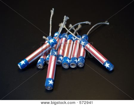Red, White & Blue Firecrackers