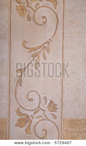 Retro Style decorative Wallpaper texture and motif poster