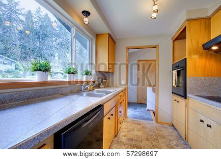 Modern Kitchen With Wide Window