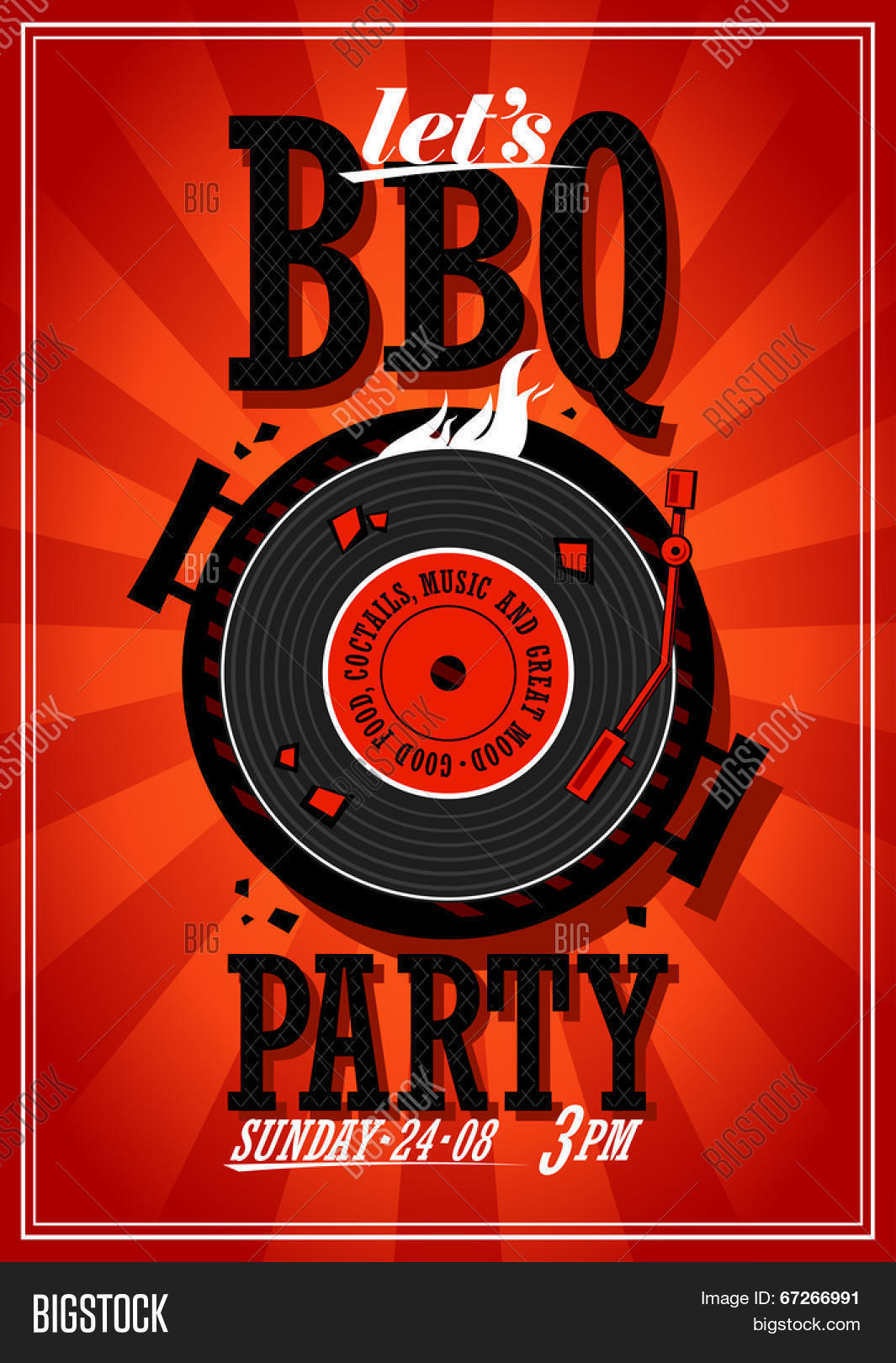 bbq party design vector photo free trial bigstock
