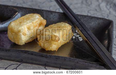 Fried Japanese Tofu In Tempura