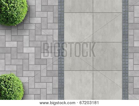 permeable paving from above