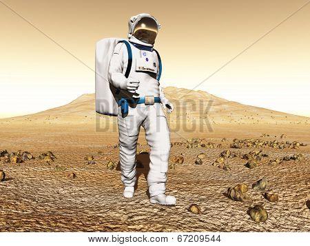 Man exploring Mars