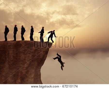 Men on a cliff