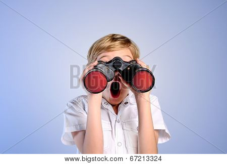 Young Boy Searching