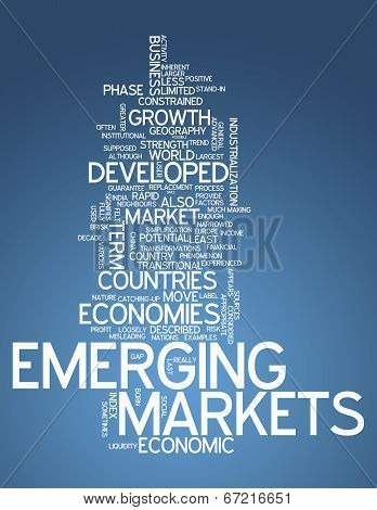 Word Cloud with Emerging Markets related tags poster