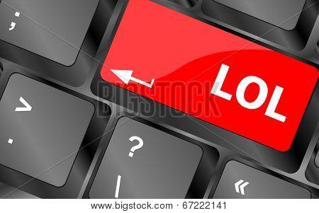 Keys Saying Lol On Keyboard Key