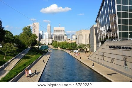 Indianapolis Skyline From Canal Walk