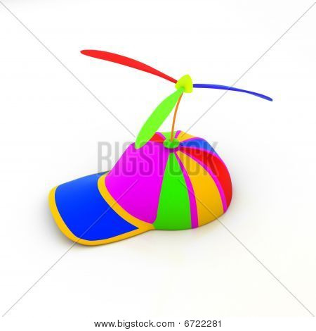 Multicolored cap (3d render)