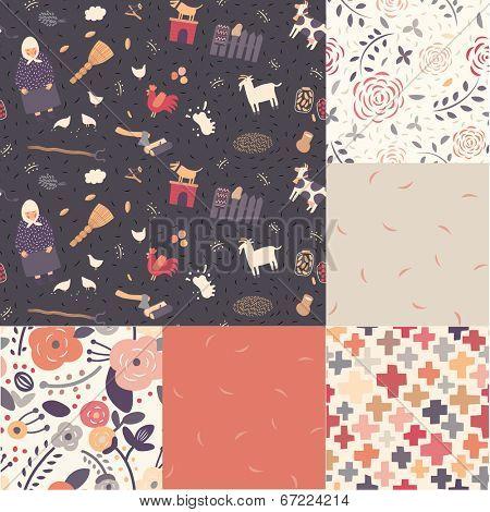 A set of seamless patterns