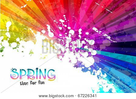 Spring Colorful Explosion of colors background for your party flyers, posters or brochure backgrounds