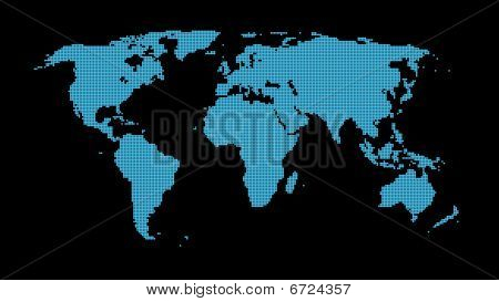 World Map abstract illustration