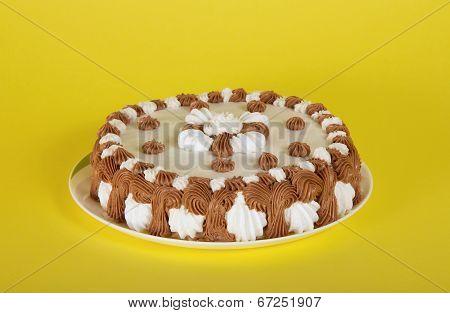 Wonderful gateau on a dish