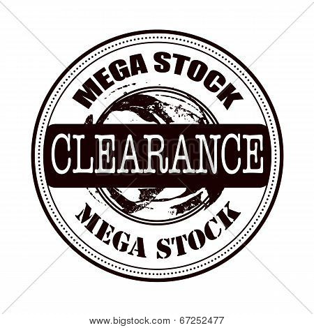 Mega Stock Clearance Stamp