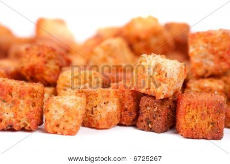 Delicious Croutons Isolated