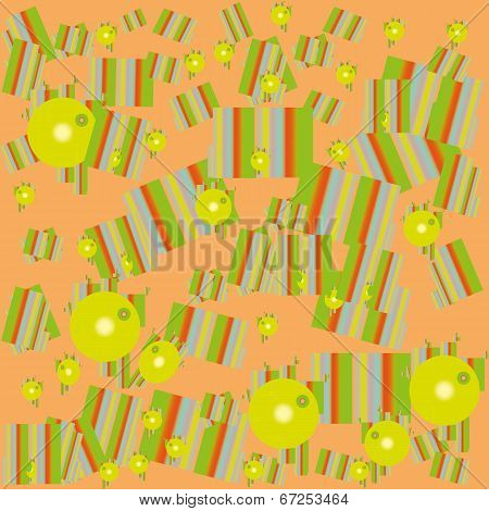 Pattern of geometric shapes bright colors scattered childhood ch