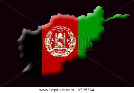 Illustration of Islamic Republic Of Afghanistan created with a high attention to detail. poster