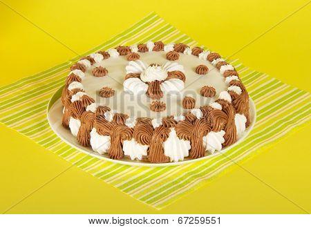 Dish with a gateau