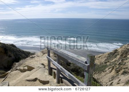 The beaches and cliffs of Torrey Pines, California