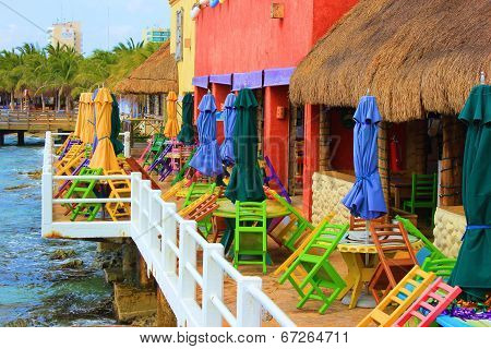 Colorful Mexico Cafe