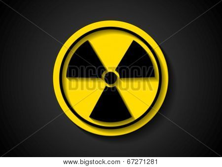Nuclear radiation abstract symbol. Vector sign