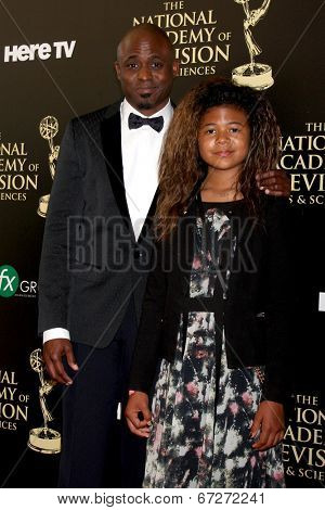 LOS ANGELES - JUN 22:  Wayne Brady, daughter at the 2014 Daytime Emmy Awards Arrivals at the Beverly Hilton Hotel on June 22, 2014 in Beverly Hills, CA