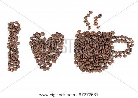 I Love Coffee Symbols