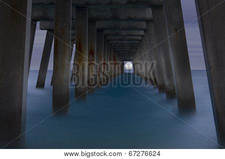 Moon Under The Pier