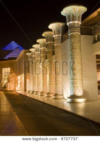 Pillar Lines In Wafi Center Dubai