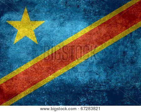 National flag of the Democratic Republic of the Congo, Vintage version