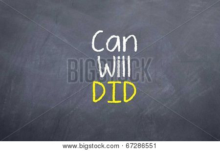 Can Will DId