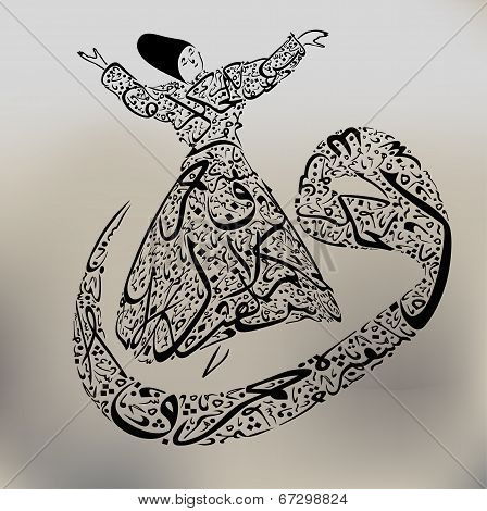 Arabic calligraphy and the calligraphy dervish,