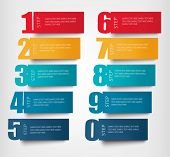 Info graphics banners with numbers and litters..Retro design template. Vector illustration  poster