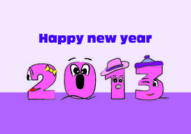 Happy New Year 2013 Sign In Pink