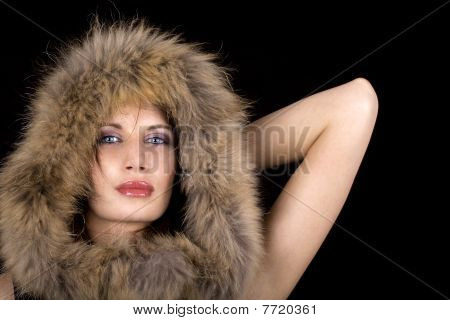 Luxury Woman With Fur