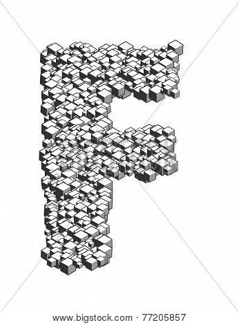 3D Letter F