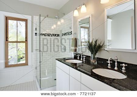 Bright White Remodel Bathroom