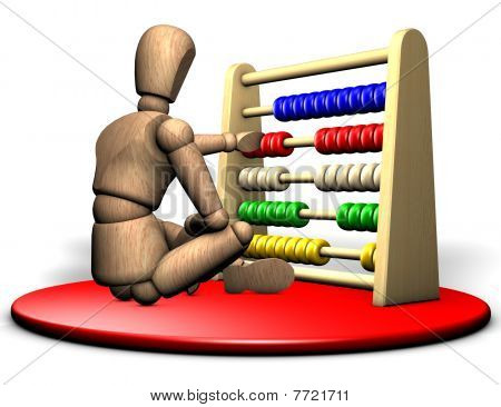 Figure with abacus