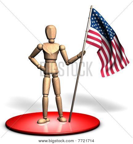 Statue of usa flag