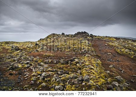Icleandic landscape on an overcast day