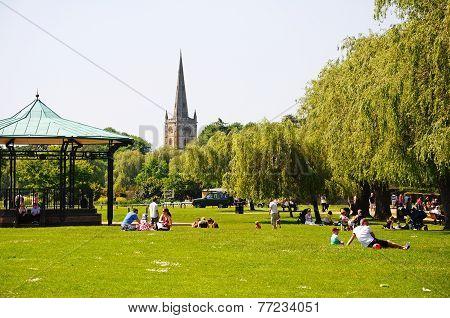 Town park, Straford-upon-Avon.